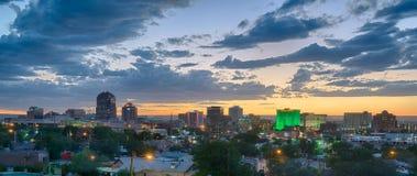 Albuquerque, New Mexico Skyline. ALBUQUERQUE, NM - OCTOBER 12: Albuquerque, New Mexico Skyline at sunset on October 12, 2017 Stock Image