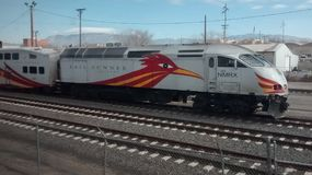 Albuquerque, NM train station. Amtrak Southwest Express Passenger Photo Stock Image