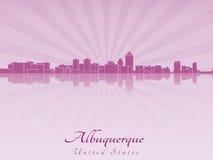 Albuquerque skyline in radiant orchid Stock Photos