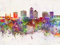 Albuquerque V2 skyline in wb Stock Photography