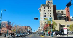 Albuquerque. View of Central avenue in Albuquerque, New Mexico Stock Photos