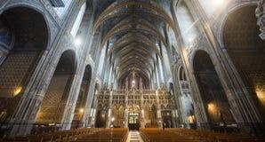 Alby (França), interior da catedral imagens de stock
