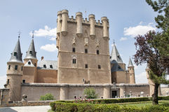 Alcázar av Segovia Arkivbild