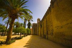 Alcázar de los Reyes Cristianos. The Inquisition began using the Alcázar as one of its headquarters in 1482 Royalty Free Stock Photography