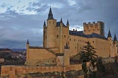 Alcà ¡ zar av Segovia (castile- och Leà ³ n, Spanien) Arkivbild