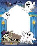 Alcôve de mur avec le thème 2 de Halloween Photographie stock