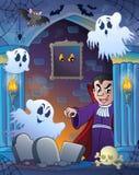 Alcôve de mur avec le thème 3 de Halloween Image libre de droits