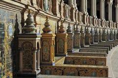 La plaza de Espana (place de l'Espagne), Séville, Espagne photographie stock libre de droits