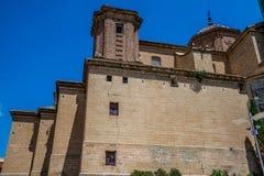 Alcañiz、镇和自治市 库存图片