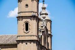 Alcañiz、镇和自治市 库存照片