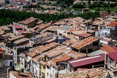 Alcañiz, ville et municipalité image stock