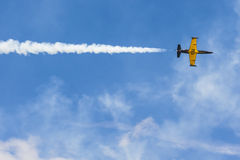 ALCA L-159 Aero no ar durante o evento desportivo da aviação dedicado ao 80th aniversário de DOSAAF Foto de Stock