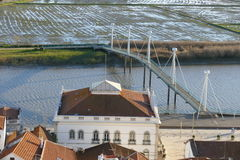 Alcacer font le sel, Sétubal, côte bleue Portugal Images libres de droits