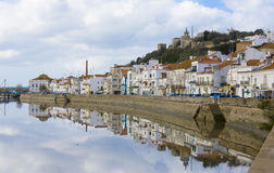 Alcacer tun Salz, Setubal, blaue Küste Portugal stockbilder