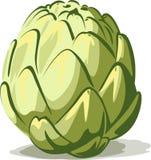 Alcachofa verde aislada en el fondo blanco libre illustration