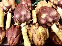 Alcachofras cruas, orgânicas foto de stock