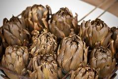 Alcachofras de Spain cozidas Fotos de Stock Royalty Free