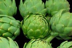 Alcachofras verdes imagem de stock