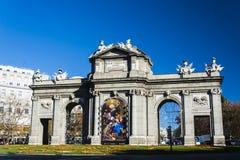 Alcalà ¡ brama w Madryt Hiszpania obrazy stock