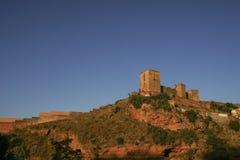Alcal在塞维利亚,安大路西亚省的de Guadaira城堡  图库摄影