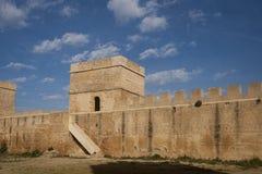 Alcal在塞维利亚,安大路西亚省的de Guadaira城堡  库存图片
