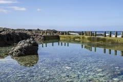 Alcala岩石水池 免版税图库摄影