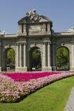 Alcala门。马德里。西班牙。 免版税库存照片