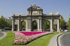 Alcala门。 马德里。 西班牙。 免版税库存图片