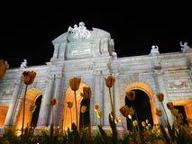 Alcala Brama, Madryt Zdjęcie Stock