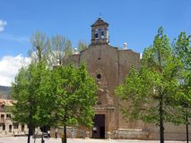 alcala church de Λα selva Ισπανία teruel Στοκ Φωτογραφία