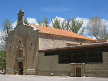 alcala church de la selva西班牙teruel 免版税图库摄影
