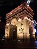 alcala de gate有历史的被找出的马德里puerta西班牙 免版税库存图片