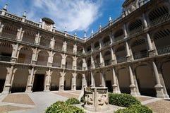 alcala de henares马德里西班牙大学 免版税库存图片