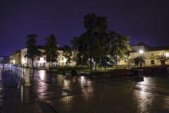 Alcala de Henares, Madrid, España 28 de noviembre de 2017: Calle de la plaza Fotografía de archivo