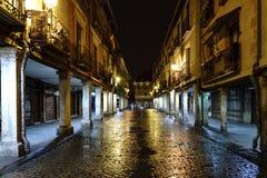 Alcala de Henares, Madrid, España 28 de noviembre de 2017: Calle principal Foto de archivo