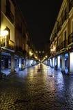 Alcala de Henares, Madrid, Spagna 28 novembre 2017: Via principale Fotografia Stock