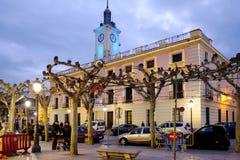 Alcala de Henares, Madrid, Spain- December 5, 2016: Cervantes Sq Royalty Free Stock Image