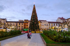 Alcala de Henares, Madrid, Spain- December 5, 2016: Cervantes Sq Stock Photos