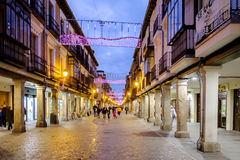 Alcala de Henares, Madrid, Spain- December 5, 2016: The Mayor st Stock Images