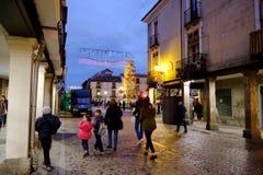 Alcala de Henares, Madrid, Spain- December 5, 2016: The Mayor st Royalty Free Stock Photo