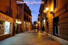 Alcala de Henares, Madrid, Spain- December 5, 2016: The Mayor st Stock Image