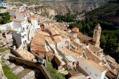 Alcala del Jucar (Albacete) in Spain. Alcala del Jucar (Albacete) rural town, top 100 most beautiful villages in Spain Stock Photography