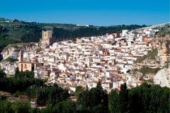Alcala del Jucar (Albacete) in Spain. Alcala del Jucar (Albacete) rural town, top 100 most beautiful villages in Spain Royalty Free Stock Photo