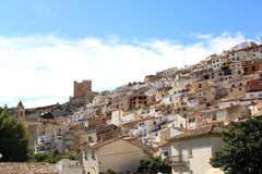 Alcala del Jucar in Spain built against mountain Stock Images