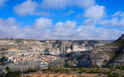 Alcala del Jucar from the viewpoint of the road of Eras Stock Photo