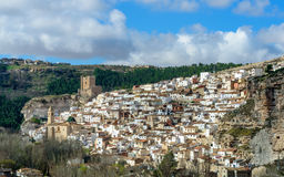 Alcala del Jucar from the viewpoint of the road of Eras II Stock Photography