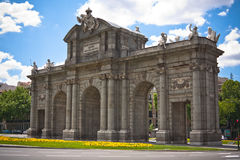 Alcala Door (Puerta de Alcala) in Independence Squ Stock Photos