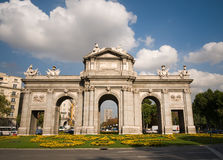 Alcala Door (Puerta de Alcala) in Madrid. Alcala Door (Puerta de Alcala) in Independence Square. Madrid, Spain Royalty Free Stock Photos