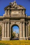 The Alcala Door Puerta de Alcala in Madrid, Spain. The Alcala Door Puerta de Alcala is a one of the ancient doors of the city of Madrid, Spain Royalty Free Stock Photos