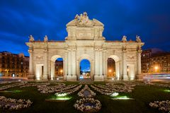 The Alcala Door Puerta de Alcala is a one of the Madrid ancient doors of the city of Madrid, Spain. It was the entrance of stock photography
